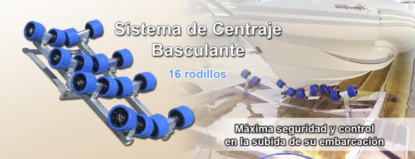 Sistema centraje basculante trasero 16 Rodillos