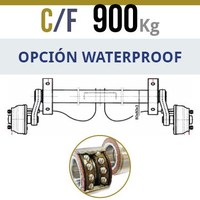 Eje c/f Knott  900Kg rodamientos compactos